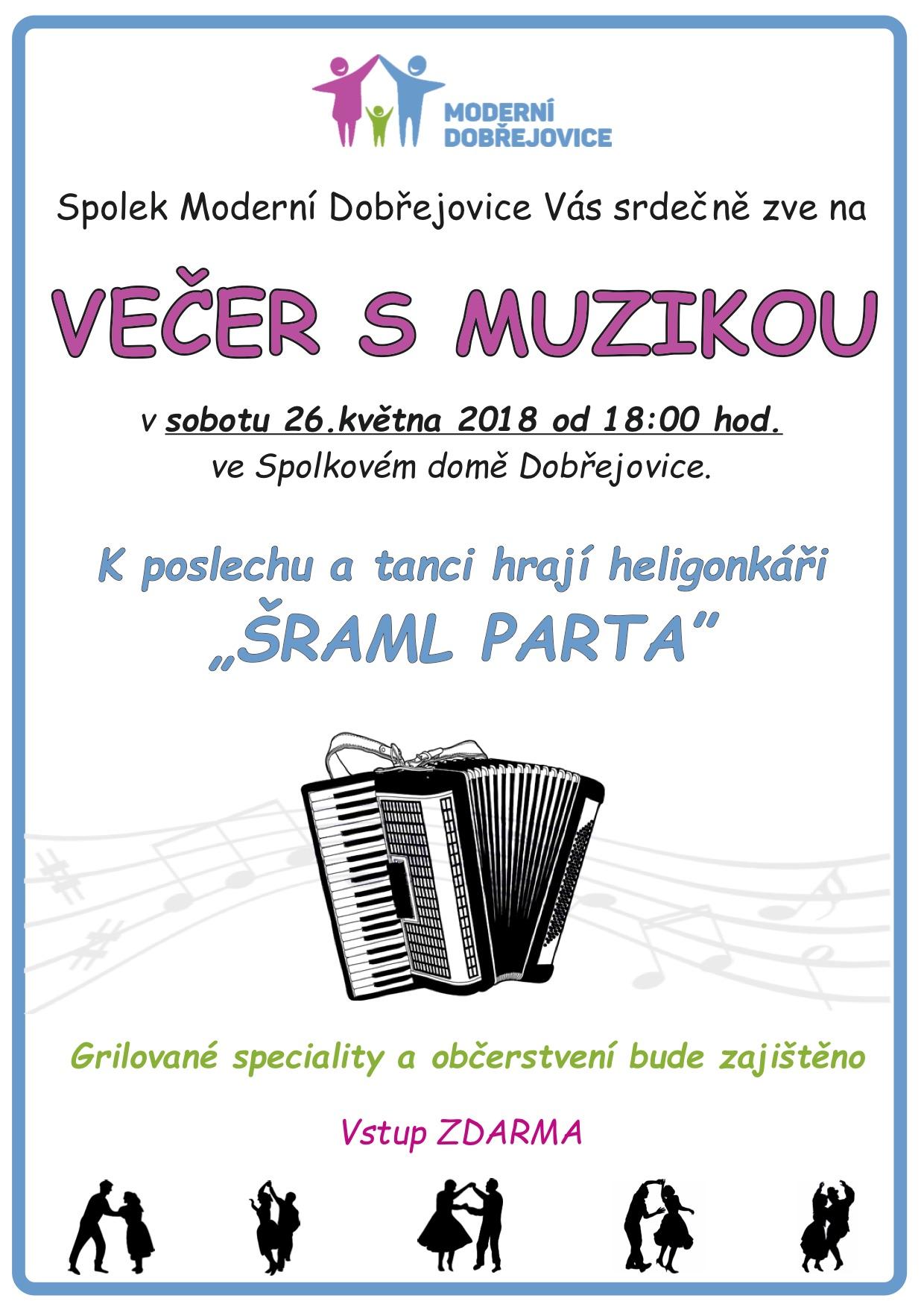 Večer s muzikou 2 pro A4 Plakát